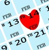 das Datum 2013 des Valentinsgrußes Stockbilder
