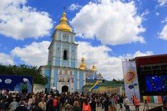 Días de festival de Europa en Kiev, Ucrania Imagen de archivo libre de regalías