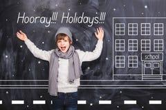 Días de fiesta de escuela felices Imágenes de archivo libres de regalías
