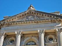 Das DeKalb County Gerichtsgebäude-Platane Illinois stockbild
