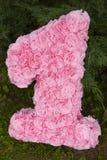 Das dekorative rosa Nummer Eins Lizenzfreie Stockfotografie