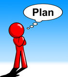Das Denken an Plan bedeutet Formel-Verfahren und Erwägung lizenzfreie abbildung