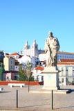 Das Denkmal auf der Straße in Lissabon Stockfoto