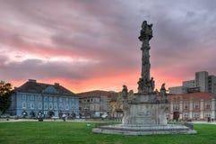 Das Denkmal der heiligen Dreiheit, Anschluss-Quadrat Lizenzfreie Stockfotos