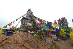 Das Denkmal des russischen Bergsteigers Anatoli Boukreev im Annapurn Lizenzfreie Stockfotografie