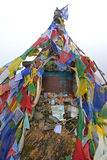 Das Denkmal des russischen Bergsteigers Anatoli Boukreev im Annapurn Stockbilder