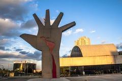 Das Denkmal von Latein-Amerika ist eine kulturelle Mitte, politisch und die Freizeit, herein am 18. März geöffnet, lizenzfreie stockfotografie