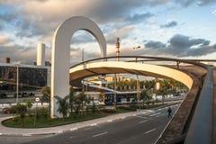 Das Denkmal von Latein-Amerika ist eine kulturelle Mitte, politisch und die Freizeit, herein am 18. März geöffnet, stockbild