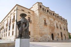 Das Denkmal von Pedro Mendoza-Guadalajara, Spanien Stockfotografie