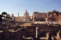 Das Des Trajans Forum, Rom, Italien Stockfotografie