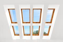 Das Design der acht Luxusoberlichtfenster Stockfotos