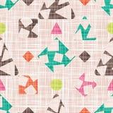Das Design des Gewebes mit geometrischen Formen Lizenzfreies Stockfoto