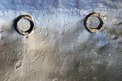 Das Detail der Lokomotive mit zwei Runden Lizenzfreie Stockfotografie