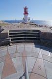 Das Detail eines Kompass neer durch einen Leuchtturm Lizenzfreie Stockbilder