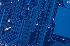 Das Detailmotherboard als Hintergrund Lizenzfreie Stockfotos