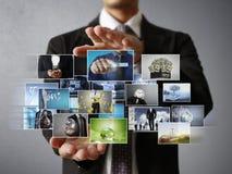 Das digitale Foto der Mannvorschau Stockfotografie