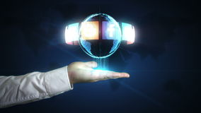 Das digitale Social Media-Netz in Ihren Händen stock video