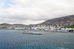 Das Dock auf dem Ägäischen Meer Stockbilder