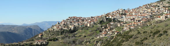 Das Dorf Stockbild