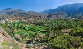 Das Dorf Bilad Sayt, Oman Lizenzfreies Stockfoto