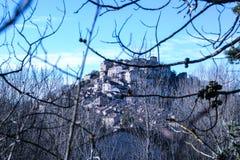 Das Dorf ` Cordes-sur Ciel-` ist im Süden von Frankreich in der Abteilung von Tarn Stockbilder