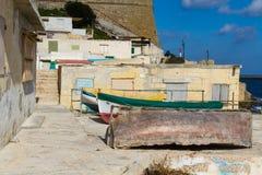 Das Dorf des Fischers auf Malta lizenzfreies stockbild