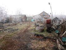 Das Dorf Elsanta, Russland Autumn Village Stockfoto