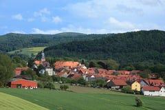 Das Dorf Herleshausen Stockbild