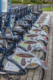 Das Dorf Heviz Ungarn hat ein allgemeines Fahrrad, das System, 19 teilt Stockfotos