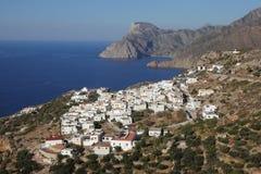 Das Dorf Mesochori auf Karpathos, Griechenland Stockfotografie