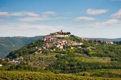 Das Dorf Motovun lizenzfreies stockbild