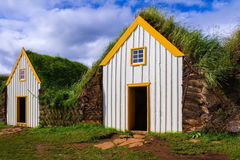 Das Dorf - Museum von ersten Siedlern Stockbild