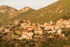 Das Dorf von Belgodere in Korsika Lizenzfreies Stockfoto