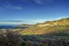 Das Dorf von Belgodere in Korsika Lizenzfreies Stockbild