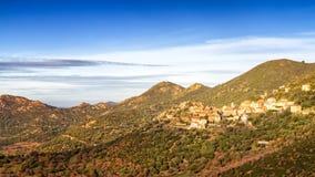 Das Dorf von Belgodere in Korsika Stockfotografie