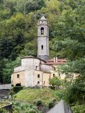 Das Dorf von Cardoso Stazzema in Alta Versilia Lizenzfreie Stockbilder