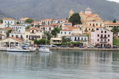 Das Dorf von Galaxidi Lizenzfreie Stockfotos