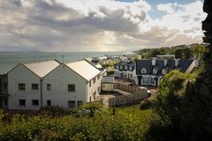 Das Dorf von Greencastle Inishowen Donegal irland lizenzfreie stockbilder