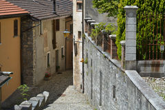 Das Dorf von Muggio, Bezirk Tessin stockfotografie