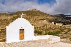Das Dorf von Olympos scheinen zeitlos außerhalb der Feiertage sind die Familienkapellen geschlossen Lizenzfreie Stockbilder