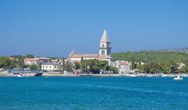 Osor, Cres Insel, Kroatien Stockbild