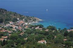 Das Dorf von San Andrea auf dem coasast von Elba I Lizenzfreie Stockbilder