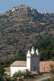 Das Dorf von Sant Antonio auf Korsika-Insel Stockfotos