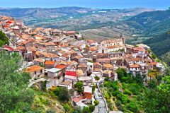 Das Dorf von Staiti in der Provinz von Reggio Calabria, Italien Stockbild