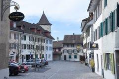 Das Dorf von Sursee auf der Schweiz Stockfoto