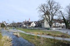 Das Dorf von Sursee auf der Schweiz stockbilder