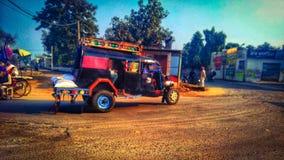 Das Dorfauto in Punjab stockfoto
