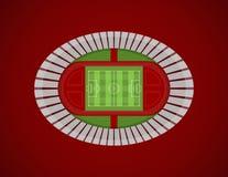 Das Draufsicht-Olympiastadions-Vektor lizenzfreie abbildung