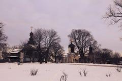 Das Dreiheits-Kloster von St. Jonas in Kiew stockfotografie