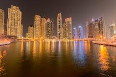 Das Dubai - 10. Januar 2015: Jachthafenbezirk an Stockbild